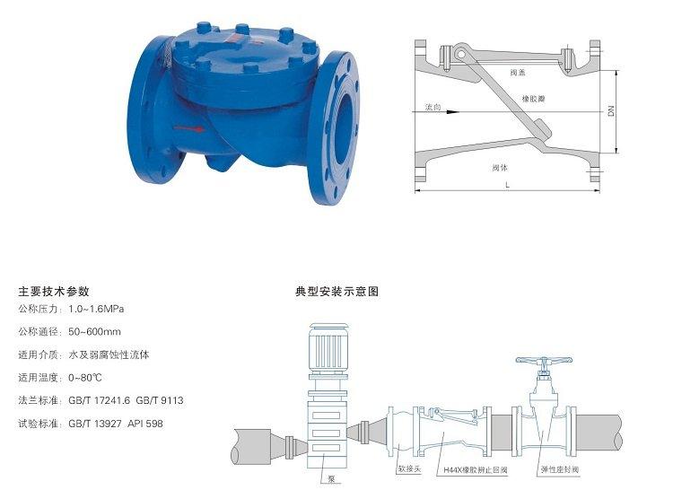 浙江专业hc44x橡胶瓣止回阀生产厂家