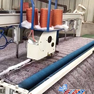 全自动计米切割缝合一体机-自动计米、切被、压扣、缝合