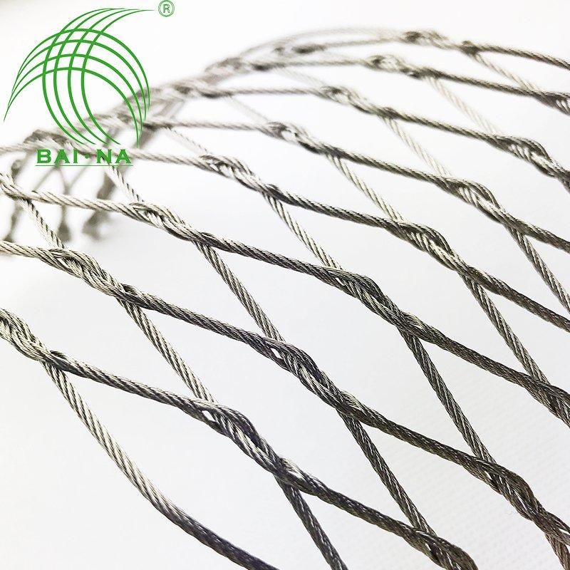 304不锈钢绳网动物园专用围栏网佰纳钢丝绳编织网直销