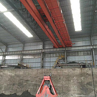 河南QZ型10吨抓斗吊矿山起重机起重设备天车亚搏app下载安装直销
