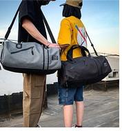来样定制运动包 带鞋位健身包 单肩行李包 旅行包 河北箱包工厂 干湿分离运动包