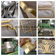 304古铜拉丝不锈钢门套电梯门套弧形天花吊顶不锈钢装饰条现场放样生产加工