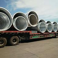 圆形波纹钢管整管钢波纹管涵 直径1米波纹涵管