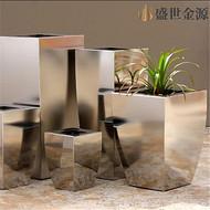广州不锈钢花盆制作工艺  不锈钢花盆花器