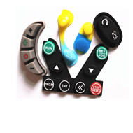 家用电器硅胶按键 仪表仪器硅胶帽按键防水导电硅胶按键单点按键
