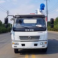 散装饲料运输车 东风多利卡单桥12方电动液压式散装饲料运输车