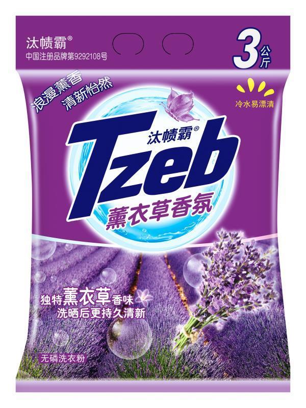 汰帻霸Tzeb薰衣草香洗衣粉 (1)