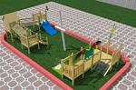 户外木质滑梯组合 幼儿园实木拓展训练 儿童动物造型滑梯 非标不锈钢滑梯