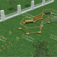 公园体能拓展训练 森林探险闯关拓展训练 幼儿园户外木质滑梯 儿童滑滑梯