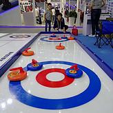 耐磨款旱地冰壶球,旱地冰壶赛道16*1.6M生产厂家价格