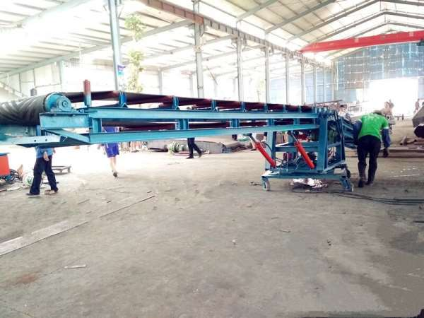移动式皮带带输送机加厚防滑式 高度可调输送机升降皮带机