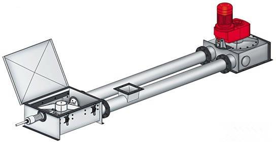倾斜用管链输送机新品 矿粉输送机异型管链输送机?