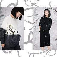 美国设计师品牌【王紫珊MICartsy】纯手工刺绣钉珠精致女装