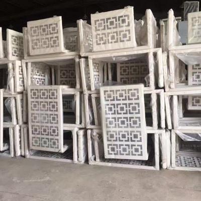 外墙铝合金外机空调框架冲孔雕花图案铝板空调防雨防晒保护罩装饰