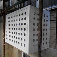 空调罩-铝合金空调罩-冲孔铝合金空调罩