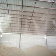 车间喷雾抑尘降温系统 厂房除尘加湿设备