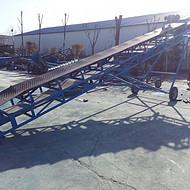 轻型粮食皮带输送机 倾斜式皮带输送机 自动升降爬坡传输机