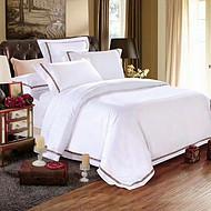 宾馆全棉贡缎四件套 纯棉提花床单床笠四件套