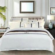 六盘水厂家 星级酒店客房布草 白色提花床品四件套
