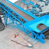 粉料包装袋输送机 防滑爬坡运卸机 皮带传送机价格