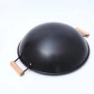 热销新款圆底铁锅创意厨房炒锅无烟不粘锅可定制食堂厨具现货供应