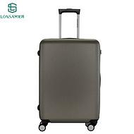 广东龙晟9602pc优质拉杆箱铝框超轻登机箱TSA海关锁商务