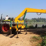 泰安拖拉机挖坑机大海机械专利产品*