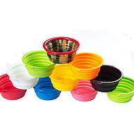 工厂直营新款创意便携式宠物硅胶折叠碗 户外狗碗飞盘