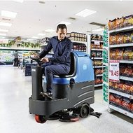 安康容恩驾驶式洗地机 学校篮球场用全自动洗地机 驾驶式电动洗地机容恩清洗机R-QQ