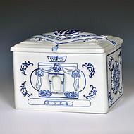 景德镇陶瓷骨灰盒,高档骨灰盒,殡仪馆用品,陶瓷骨灰盒