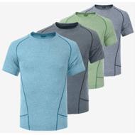速干面料t恤定制圆领拼接运动t恤定做 透气排汗快干衣服印图LOGO
