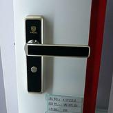 雅居锁 全铝合金门锁 C2222BK 香槟金+白