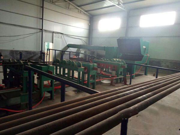 钢管内壁喷砂机六工位