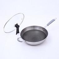 *新款不锈钢炒锅不粘锅家用厨房用品铁锅炒锅定制货源批发