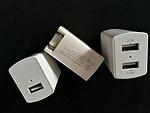 美国UL认证充电器双USB直充 5v2a+1a双USB手机充电器折叠插头