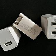 美国UL认证充电器双USB直充 5v2a+1a双USB充电器折叠插头