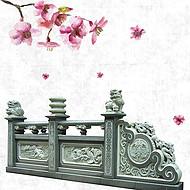 泉州石雕厂家青石栏杆石头围栏 仿古浮雕栏板定做 天然石材护栏