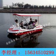 水上脚踏船多人水上脚踏船豪华水上观光船水上烧烤船