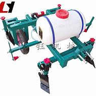手扶棉花种植播种打药覆膜一体机速度小型人工地膜覆盖机 龙钰公司农用地膜机