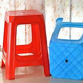 古典凳子租赁 红色塑料方凳租赁