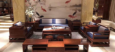 中山市名琢世家刺猬紫檀新中式江南沙发6件套全国火爆招商加盟中