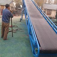 大型沙场砂石皮带输送机 防滑耐磨传送机 高质量橡胶带