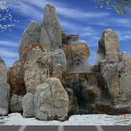 千层石假山厂家|斧劈石假山价格|开封水泥塑石假山