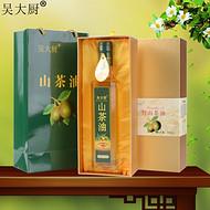 吴大厨山茶油野生茶籽油500ml食用油老年长寿油茶油L礼盒装