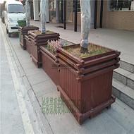 合肥防腐木花箱花槽花桶实木花箱移动花池移动树池树围花架*