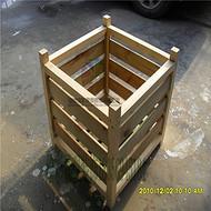 定做户外樟子松防腐木碳化花箱花槽室外景观花园阳台花架
