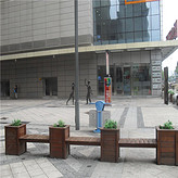 特價防腐木花箱碳化木質花車花架戶外花壇花槽花池花桶種植箱