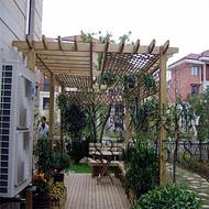 防腐木葡萄架戶外涼亭庭院葡萄架長廊崗亭實木廊架車棚花架植物架