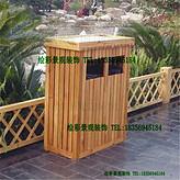 戶外防腐木垃圾箱碳化垃圾桶花箱花盆木質垃圾桶實木垃圾桶