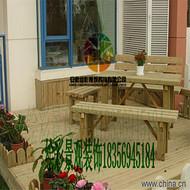 碳化防腐實木桌椅花園戶外庭院家具坐凳酒吧茶室咖啡餐廳桌椅